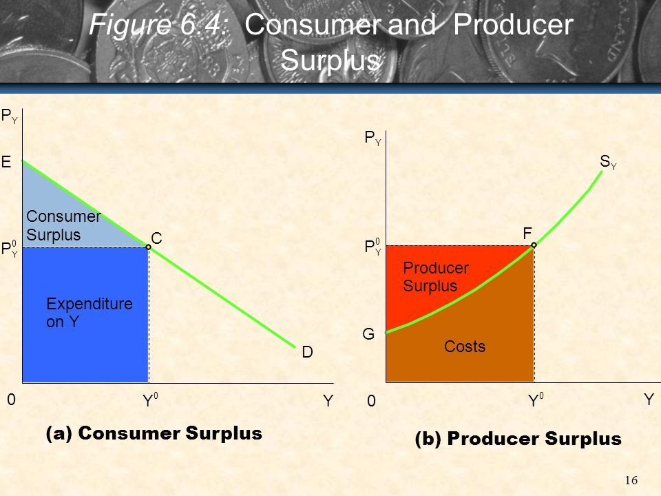 Figure 6.4: Consumer and Producer Surplus