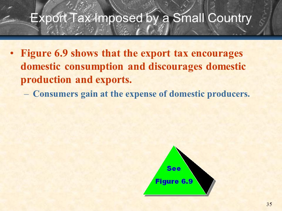Export Tax Imposed by a Small Country