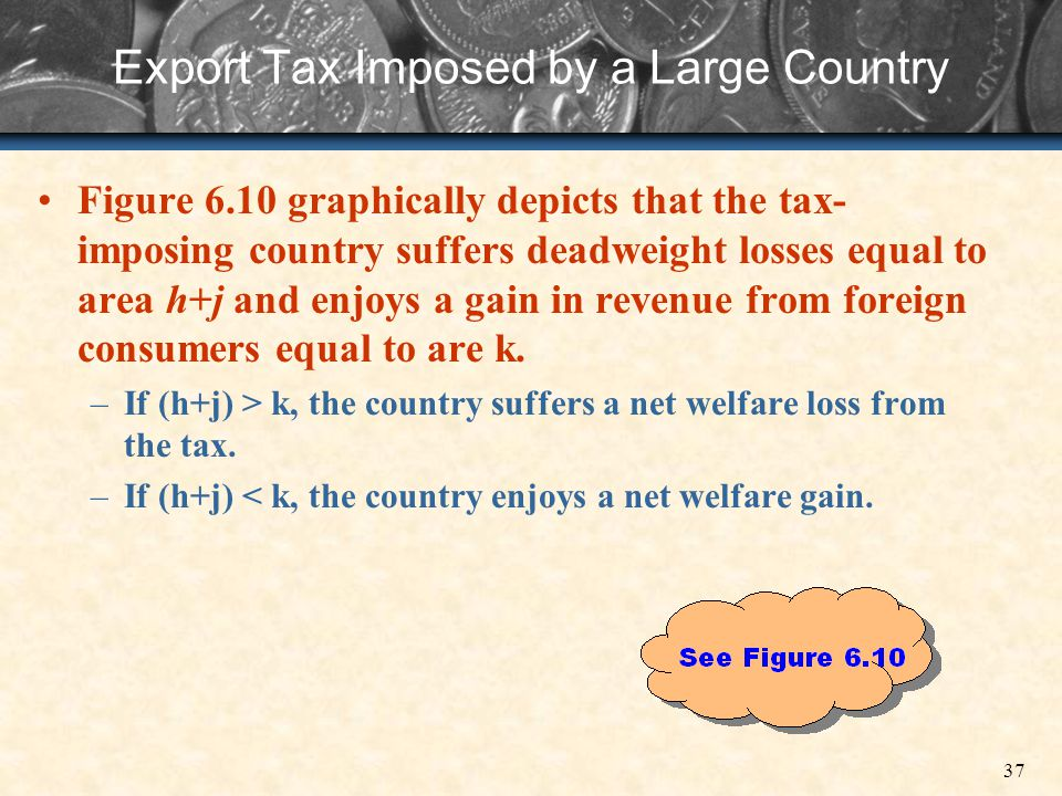Export Tax Imposed by a Large Country