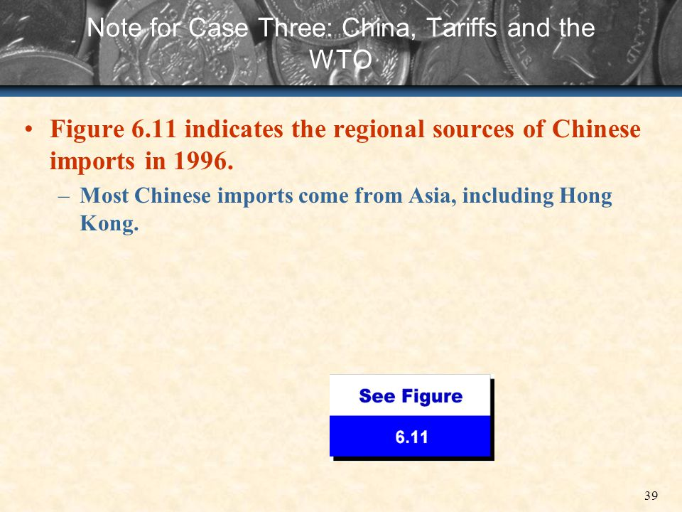 Note for Case Three: China, Tariffs and the WTO