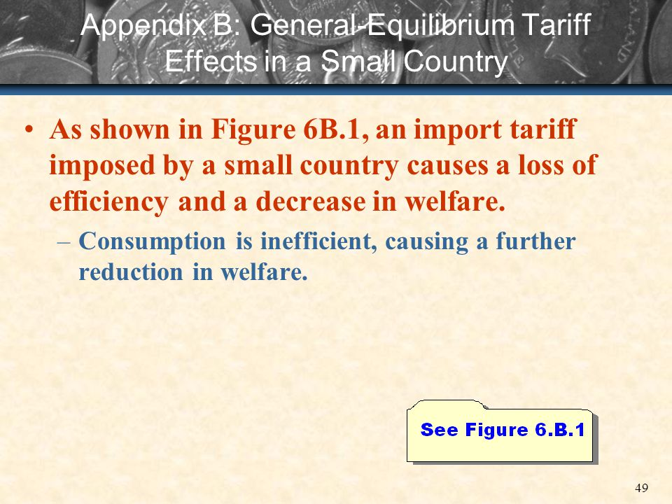 Appendix B: General-Equilibrium Tariff Effects in a Small Country
