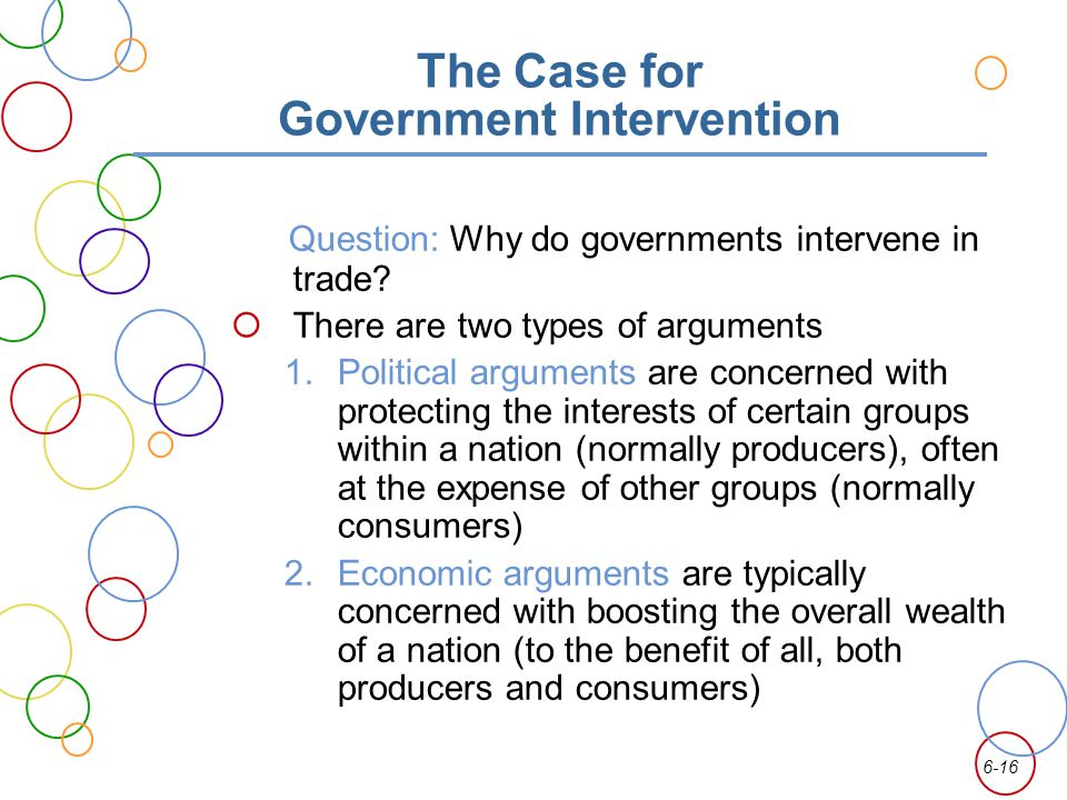 The Case for Government Intervention