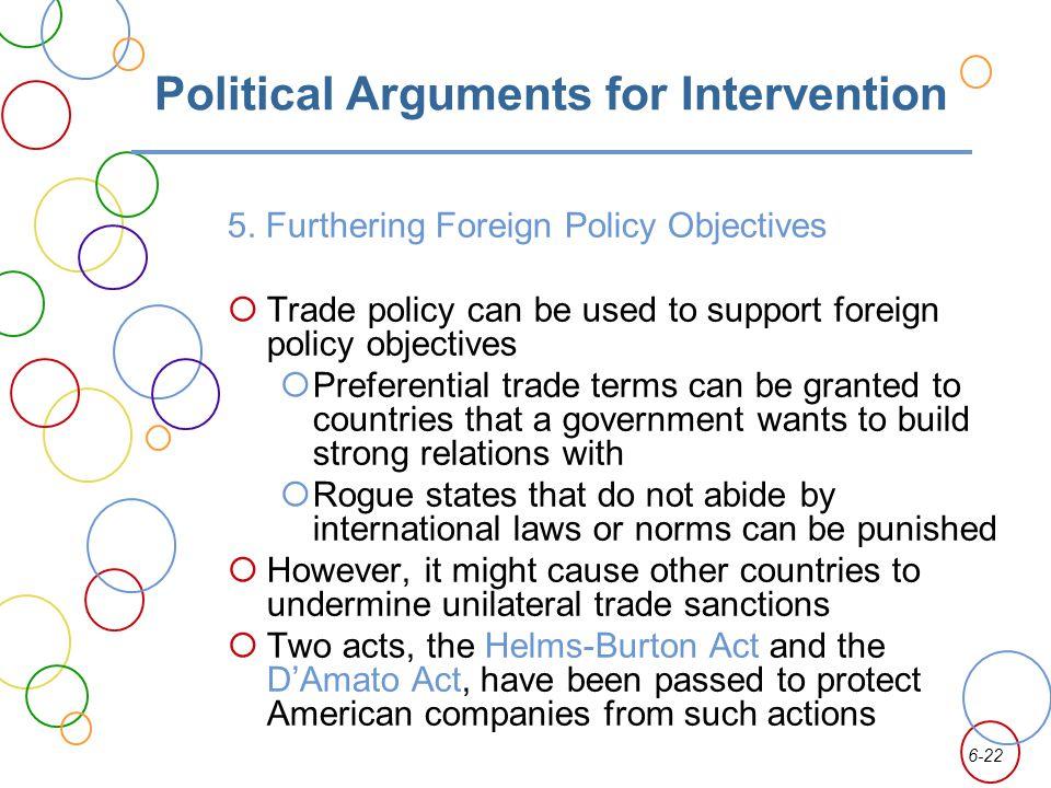 Political Arguments for Intervention