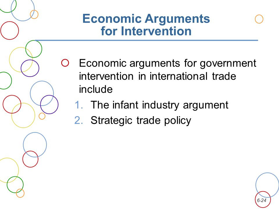 Economic Arguments for Intervention