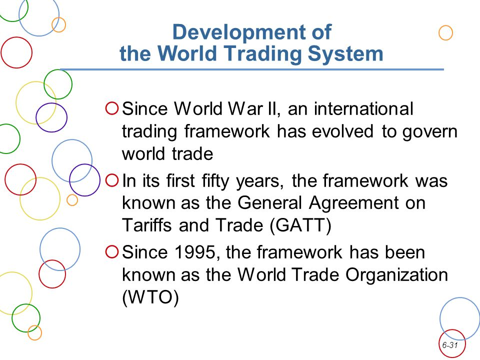 Development of the World Trading System