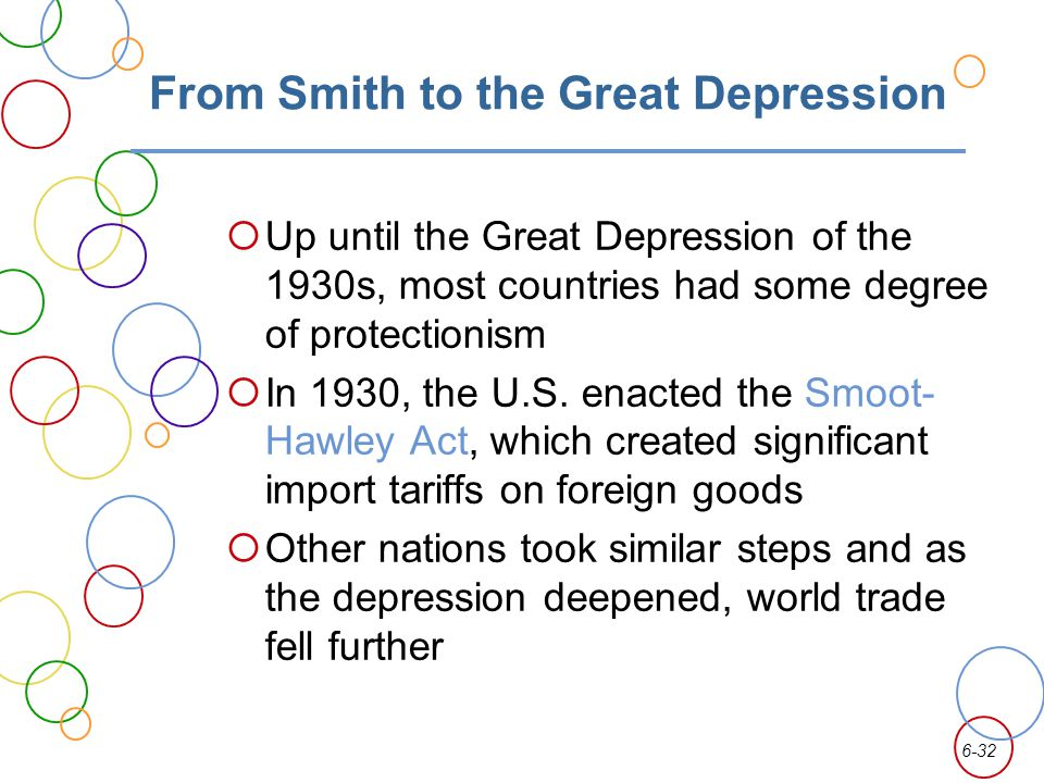 From Smith to the Great Depression