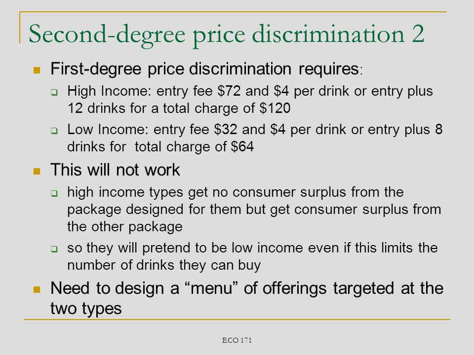 Second-degree price discrimination 2