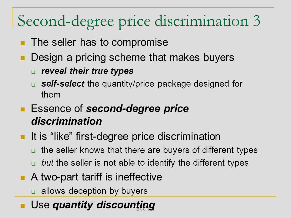Second-degree price discrimination 3