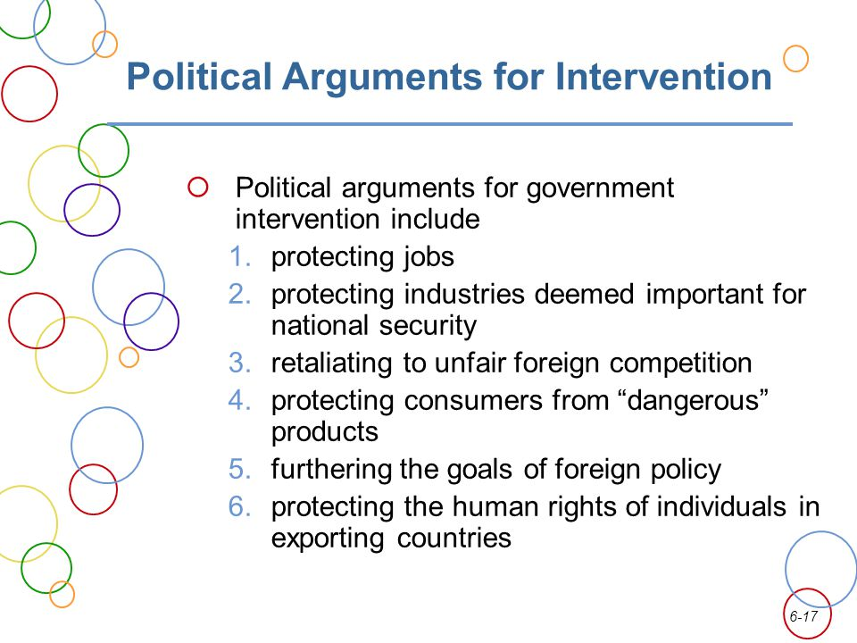 Political Arguments for Intervention