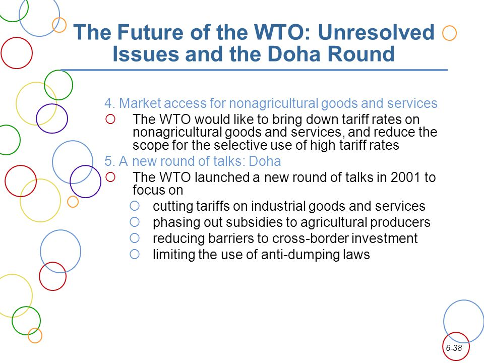 The Future of the WTO: Unresolved Issues and the Doha Round