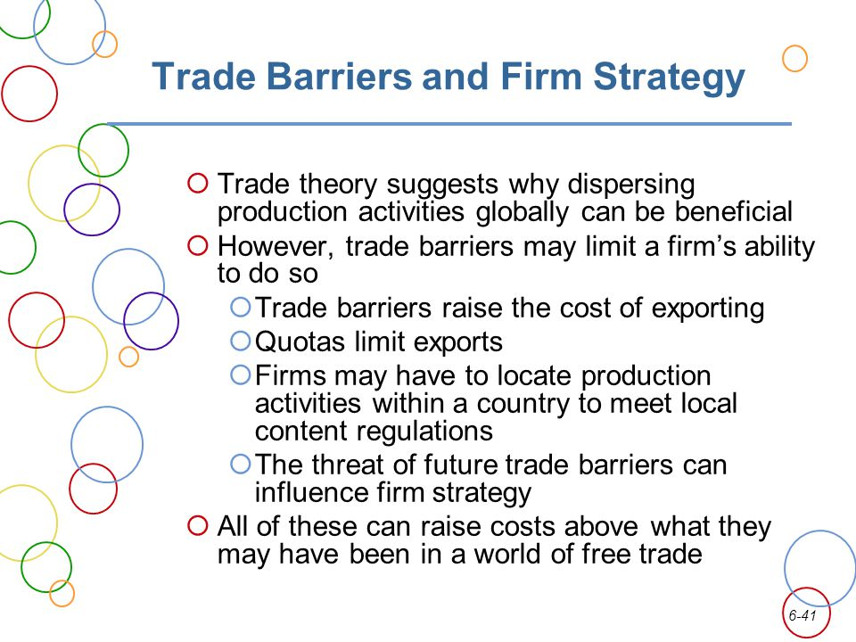 Trade Barriers and Firm Strategy