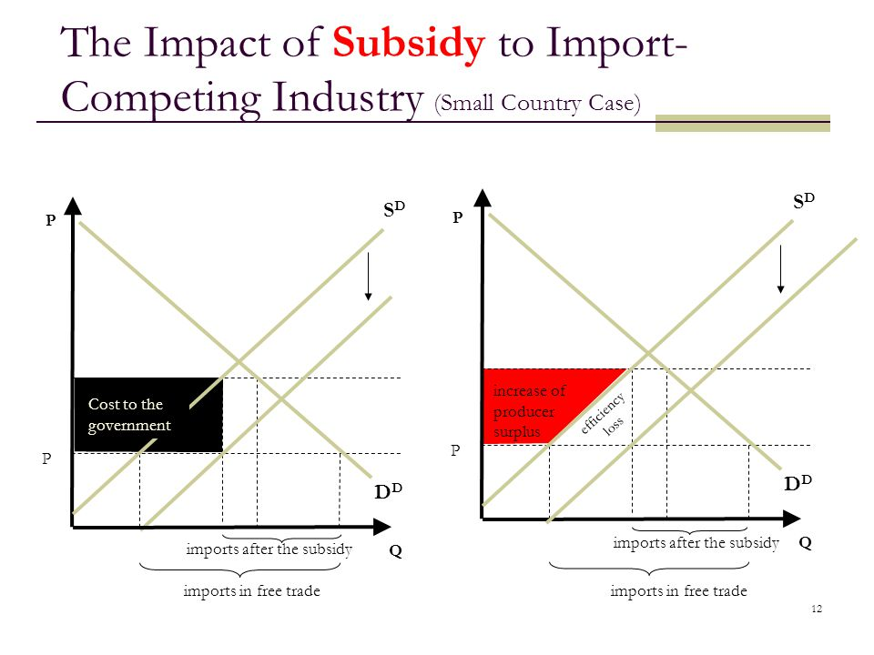 The Impact of Subsidy to Import-Competing Industry (Small Country Case)