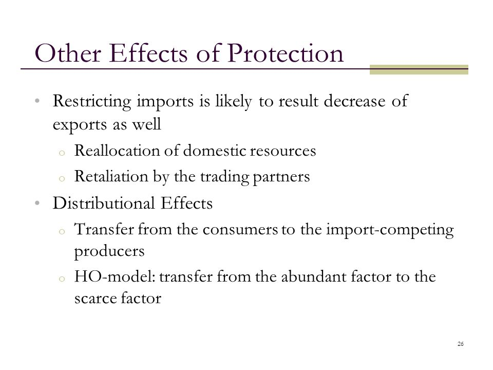Other Effects of Protection
