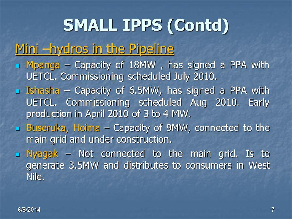 Mini –hydros in the Pipeline