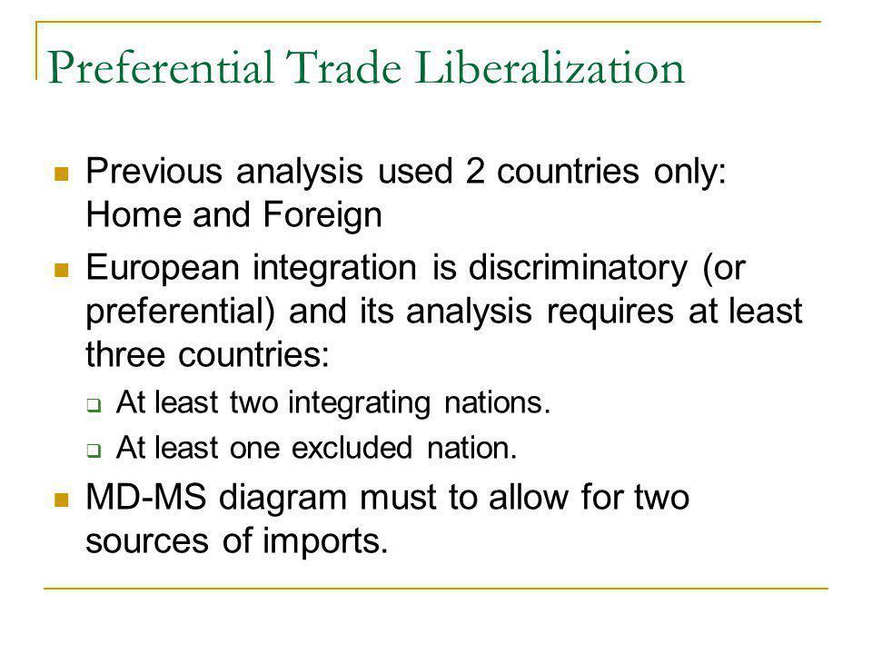 Preferential Trade Liberalization