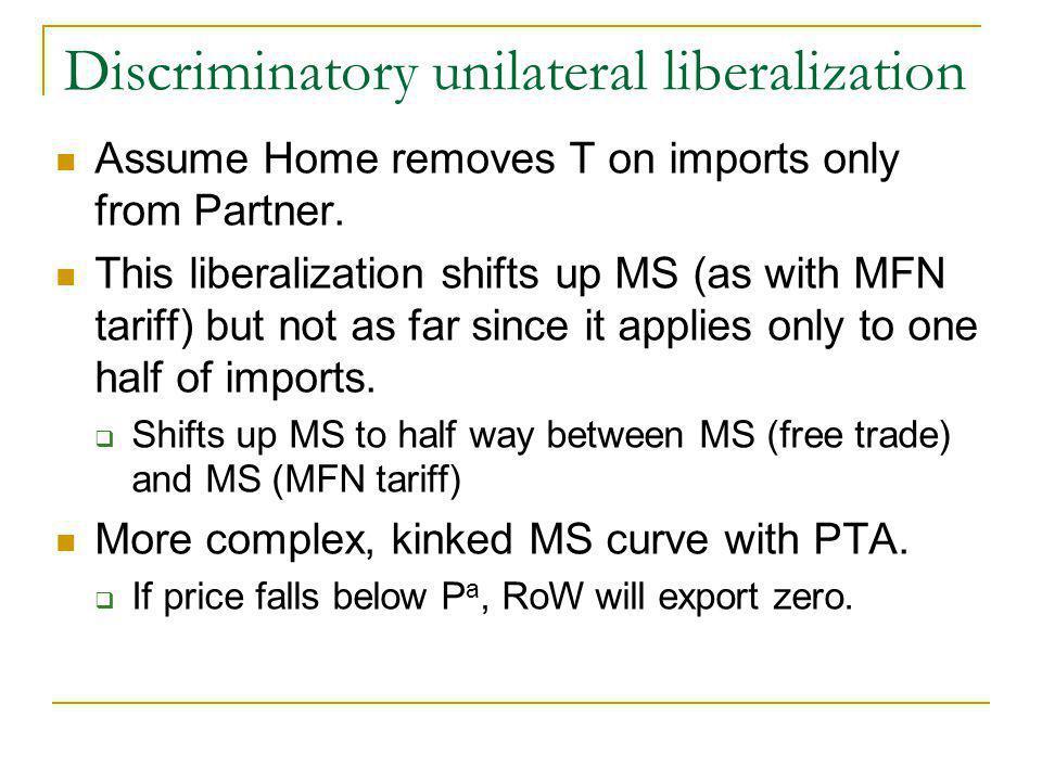 Discriminatory unilateral liberalization