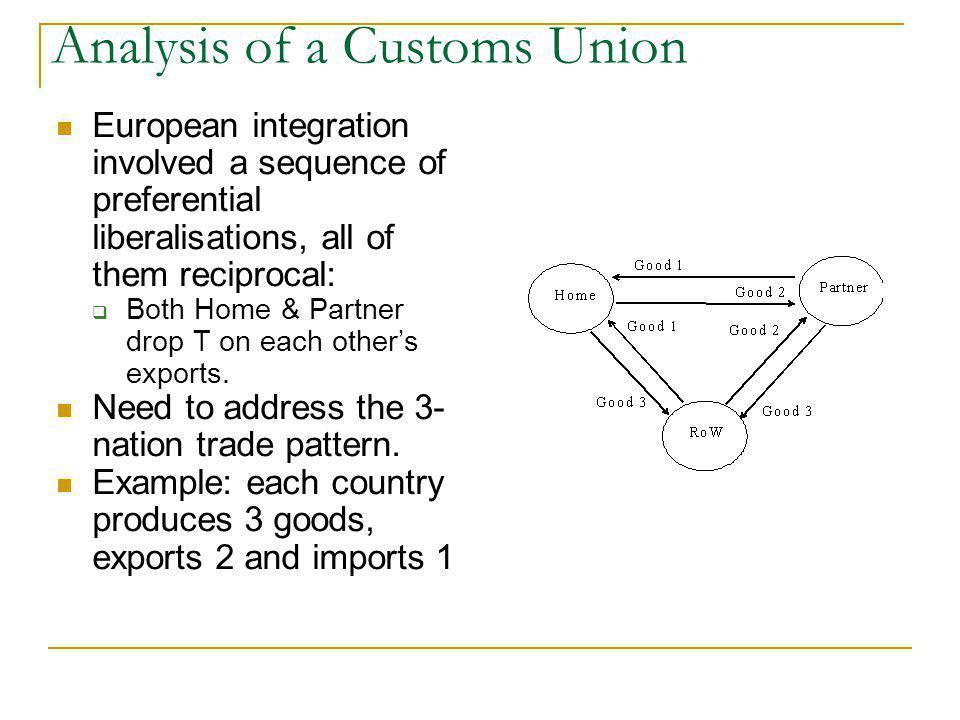 Analysis of a Customs Union
