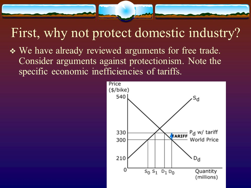First, why not protect domestic industry