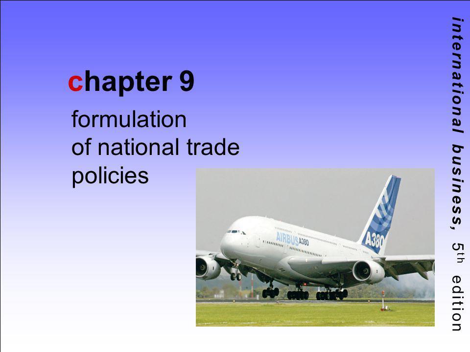 formulation of national trade policies
