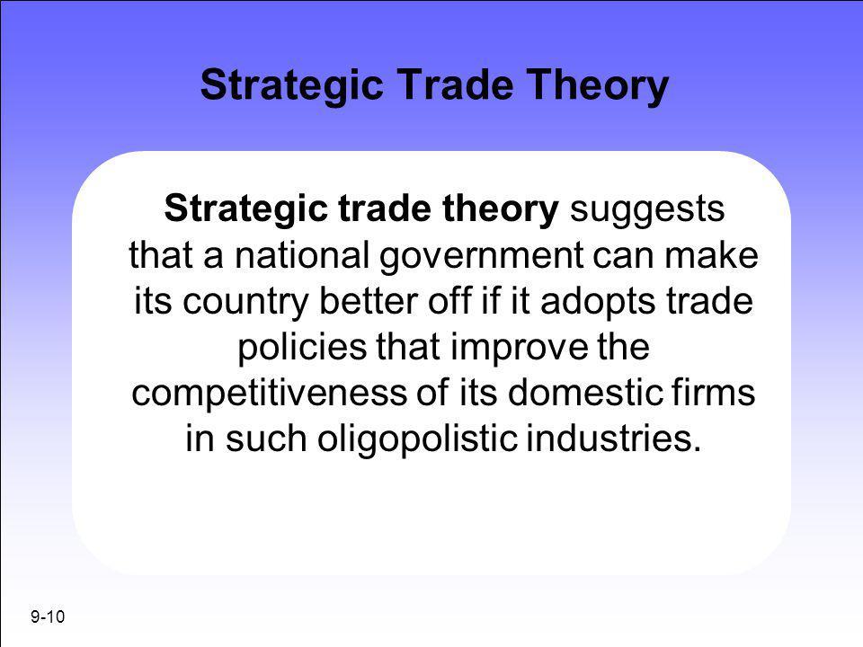 Strategic Trade Theory