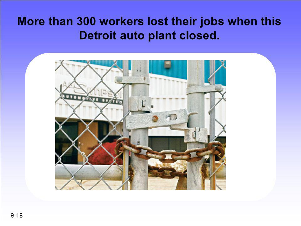 More than 300 workers lost their jobs when this Detroit auto plant closed.