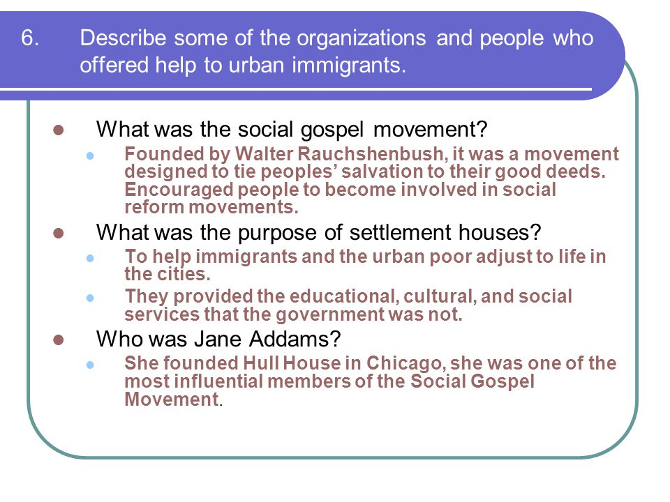 What was the social gospel movement