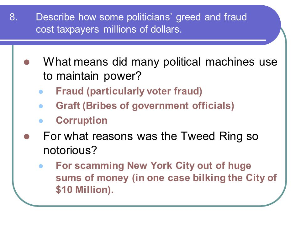 What means did many political machines use to maintain power
