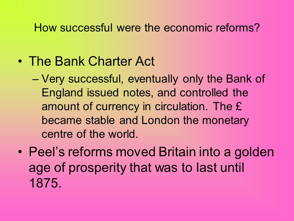 How successful were the economic reforms