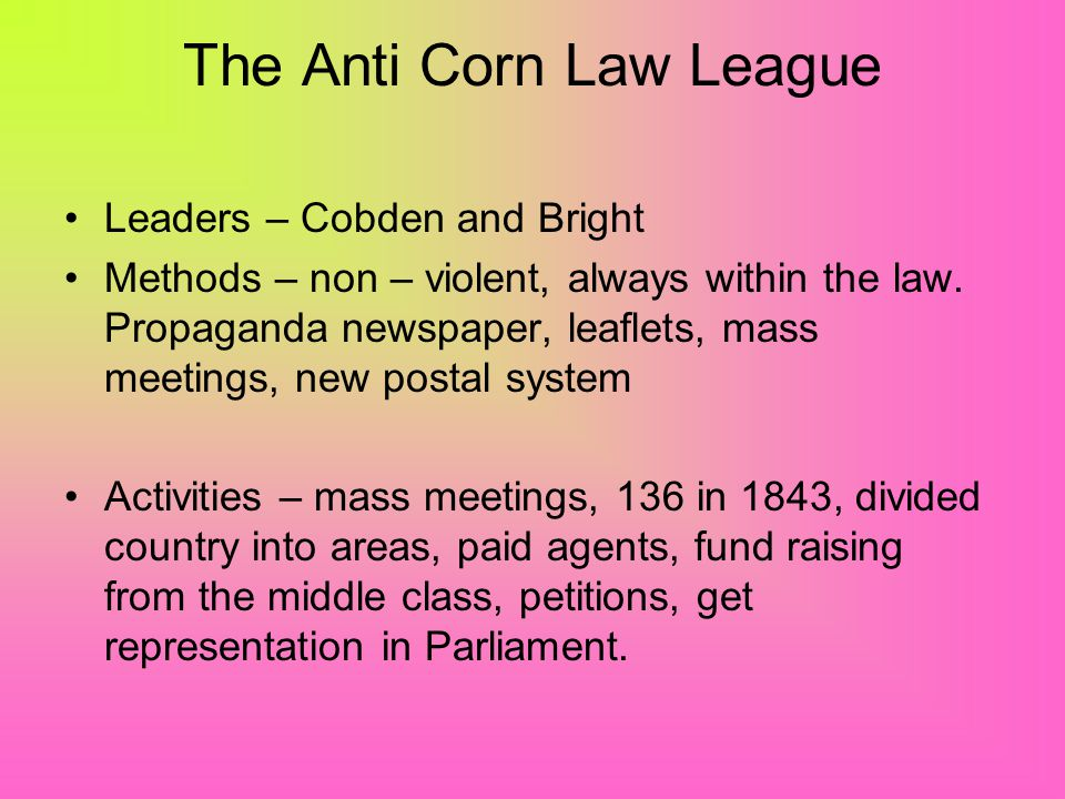 The Anti Corn Law League