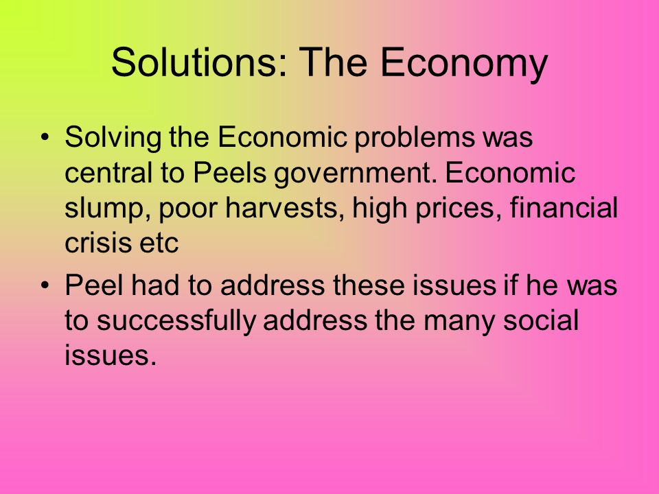 Solutions: The Economy