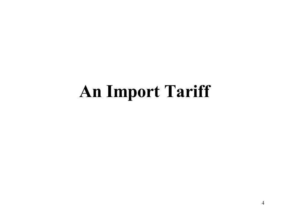 An Import Tariff
