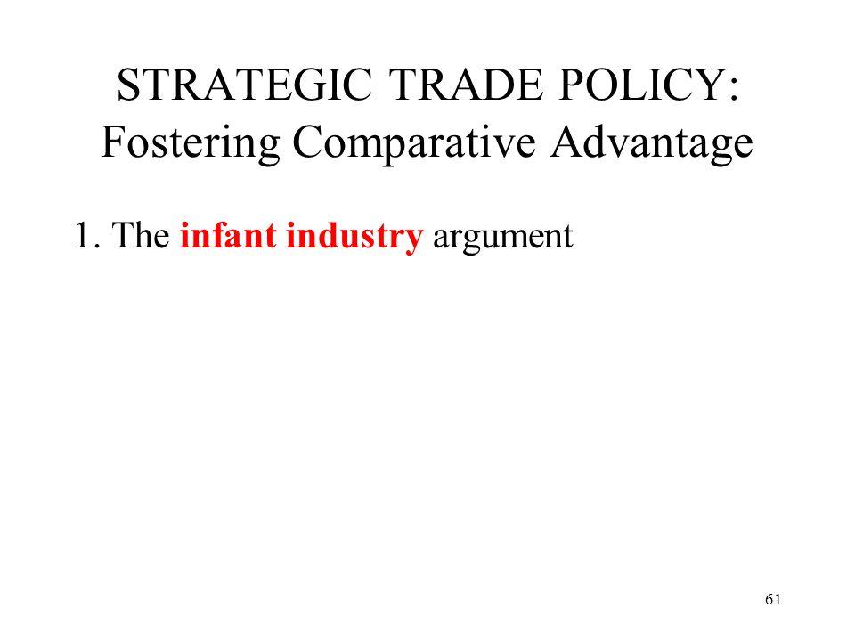 STRATEGIC TRADE POLICY: Fostering Comparative Advantage