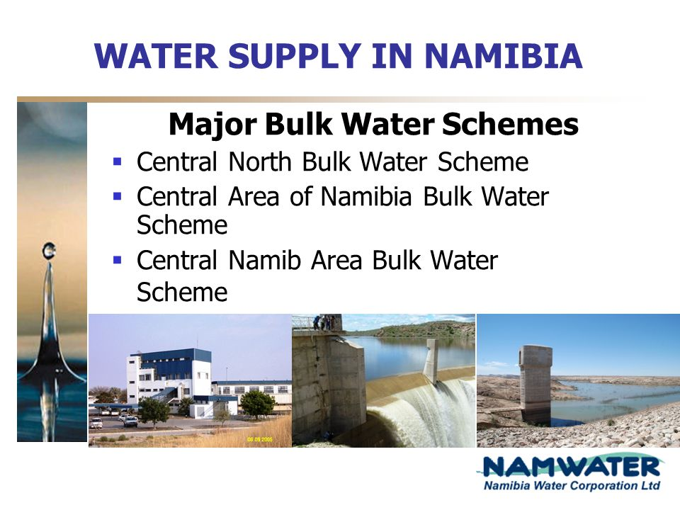 WATER SUPPLY IN NAMIBIA