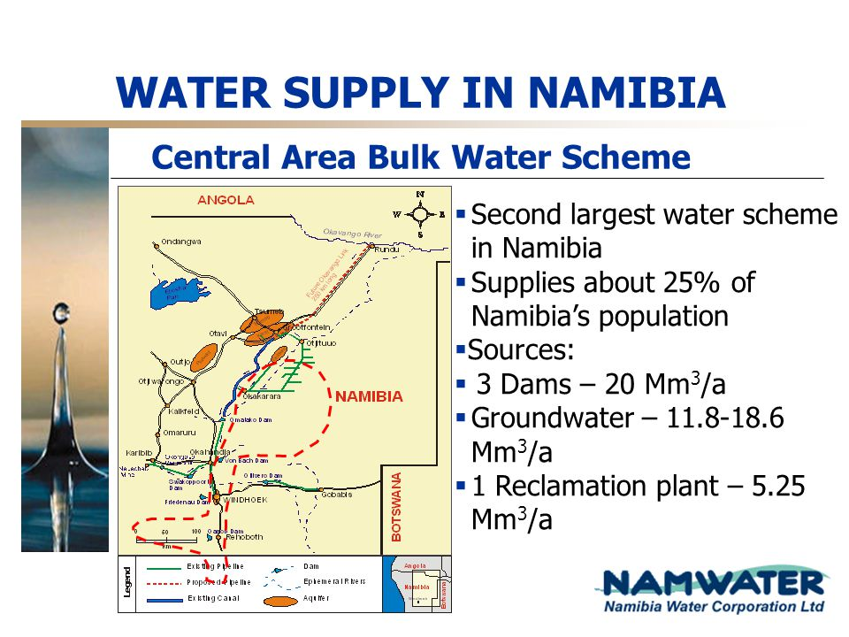 WATER SUPPLY IN NAMIBIA Central Area Bulk Water Scheme