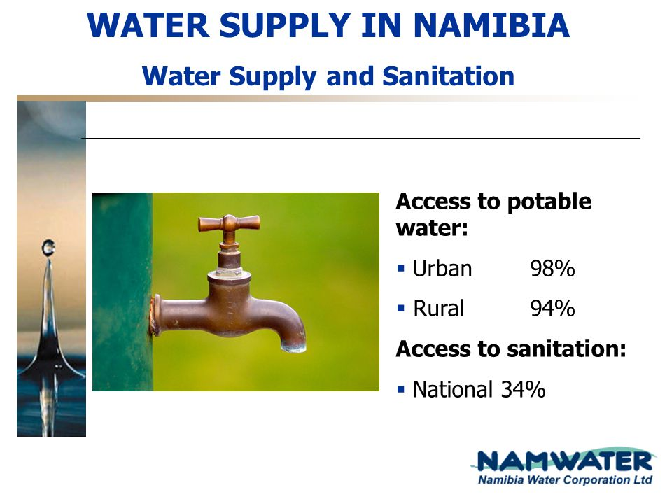 WATER SUPPLY IN NAMIBIA Water Supply and Sanitation