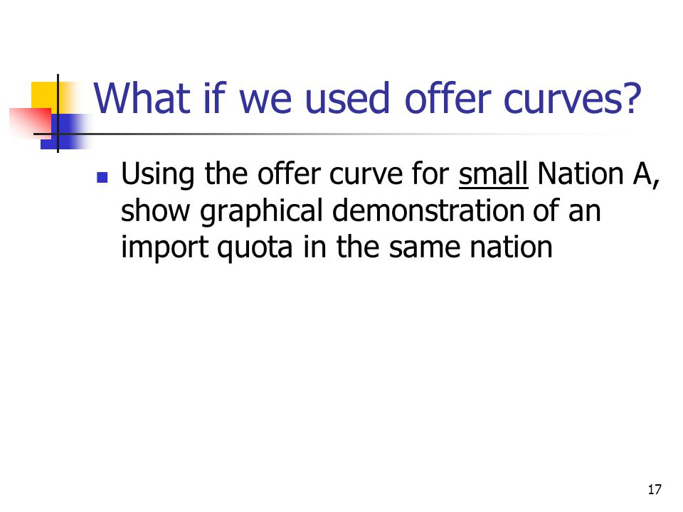 What if we used offer curves