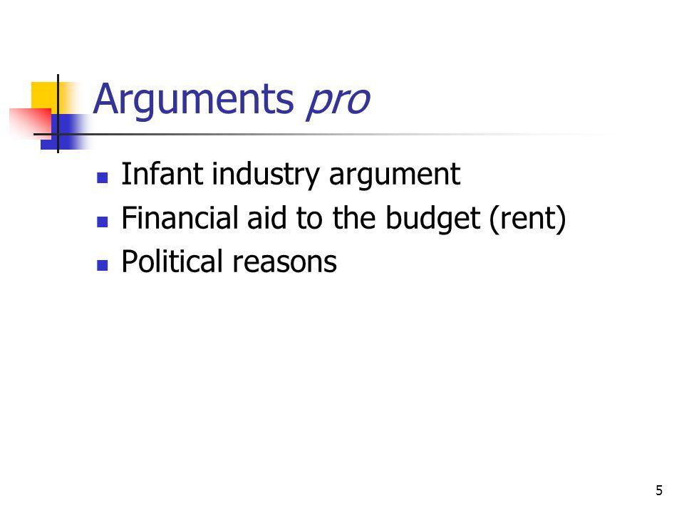 Arguments pro Infant industry argument