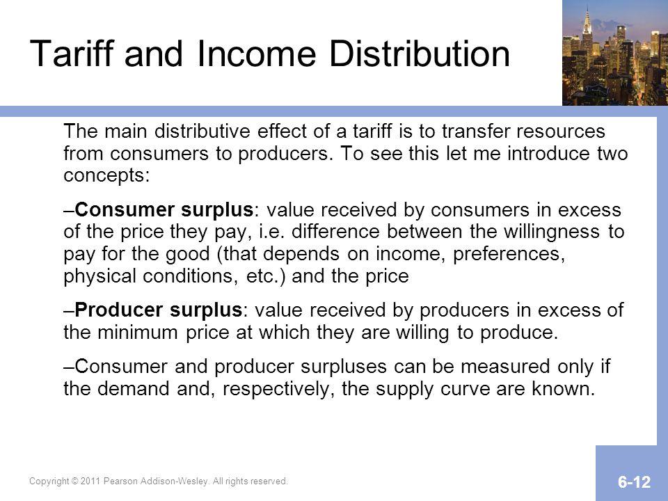 Tariff and Income Distribution