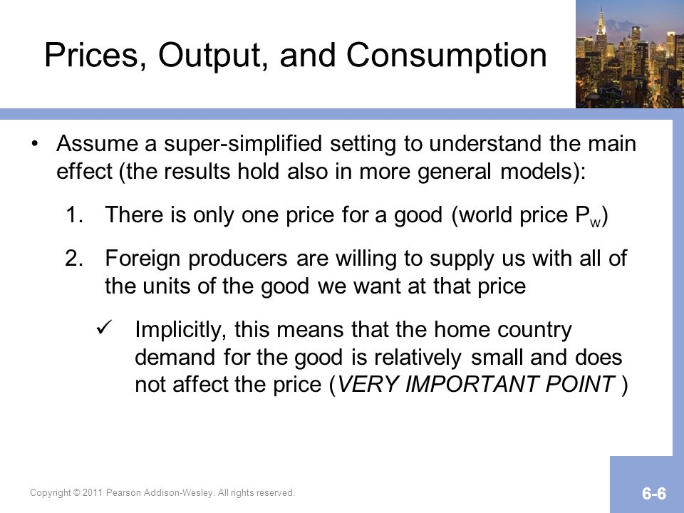 Prices, Output, and Consumption