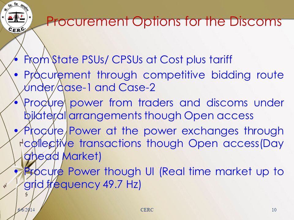 Procurement Options for the Discoms