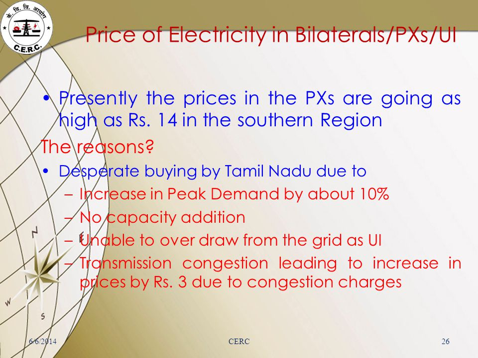 Price of Electricity in Bilaterals/PXs/UI