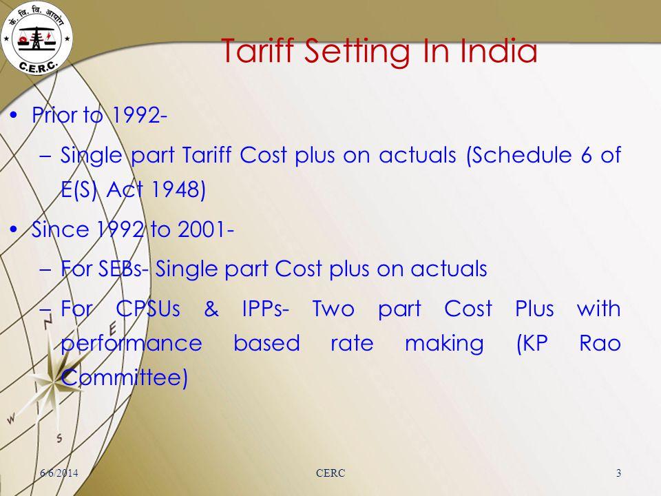 Tariff Setting In India