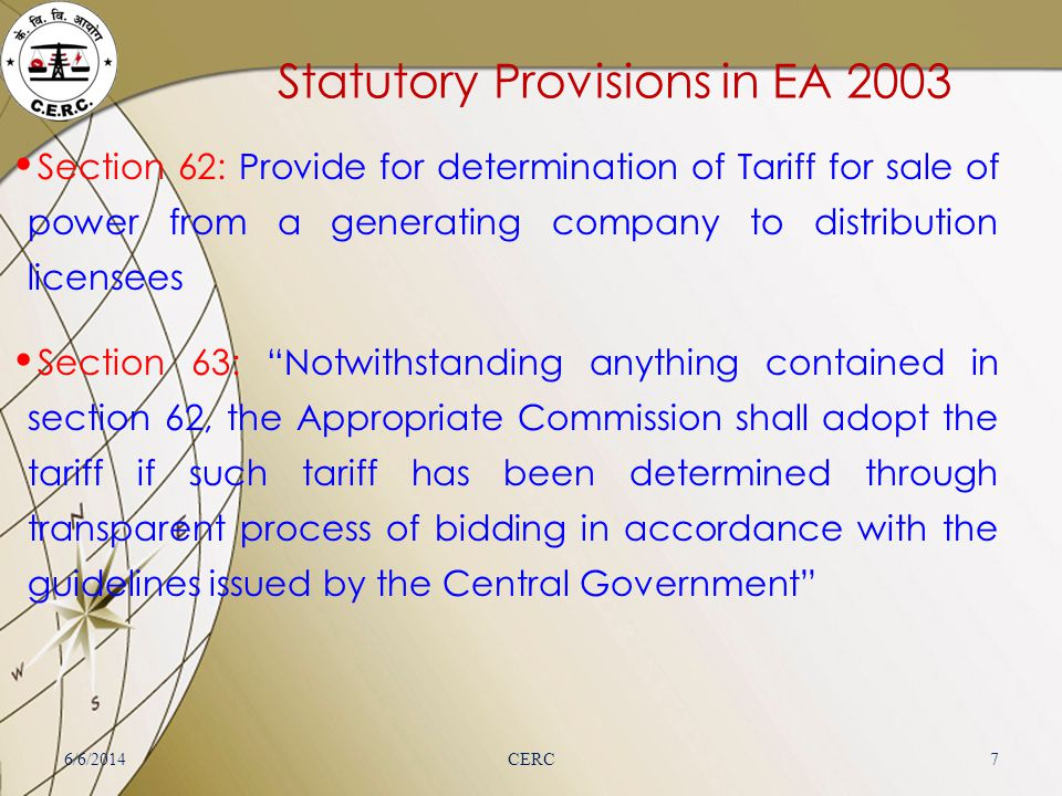 Statutory Provisions in EA 2003