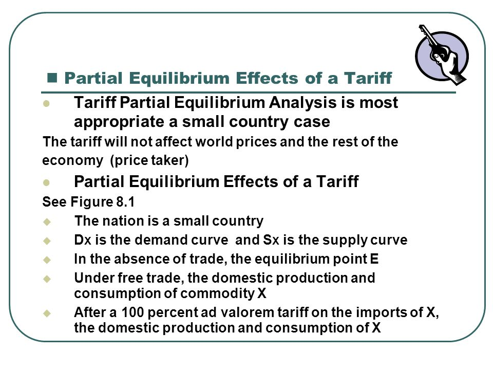 Partial Equilibrium Effects of a Tariff