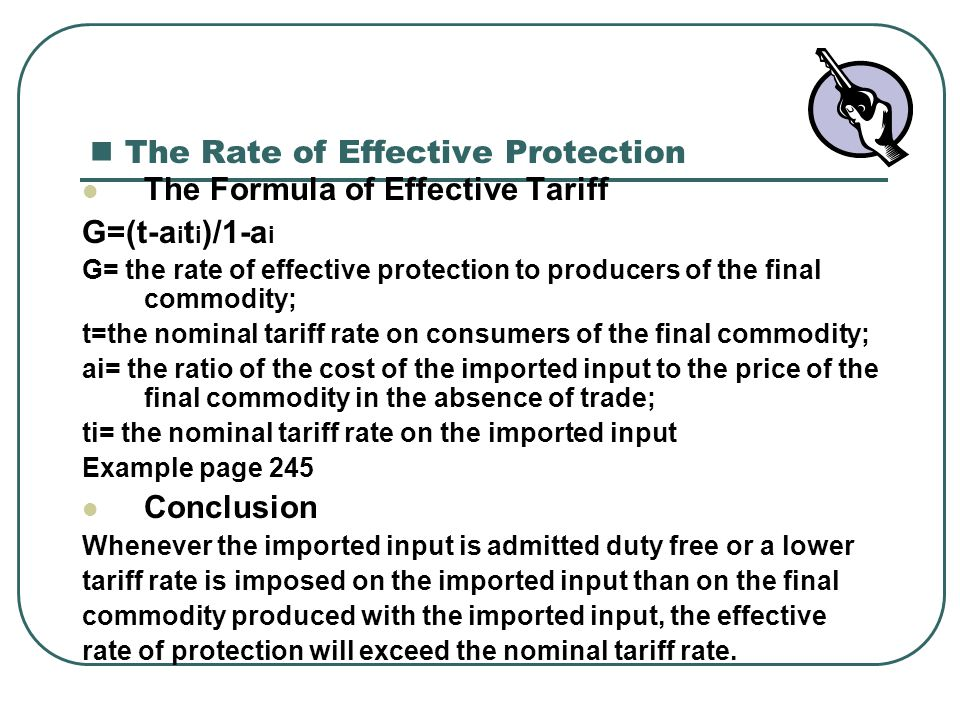 The Rate of Effective Protection