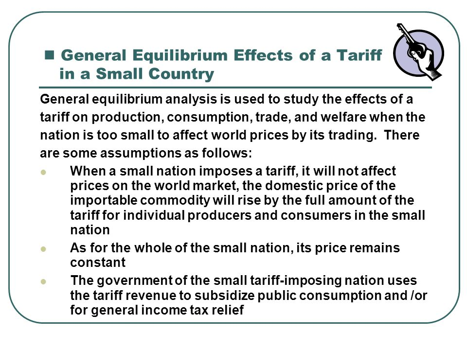 General Equilibrium Effects of a Tariff in a Small Country