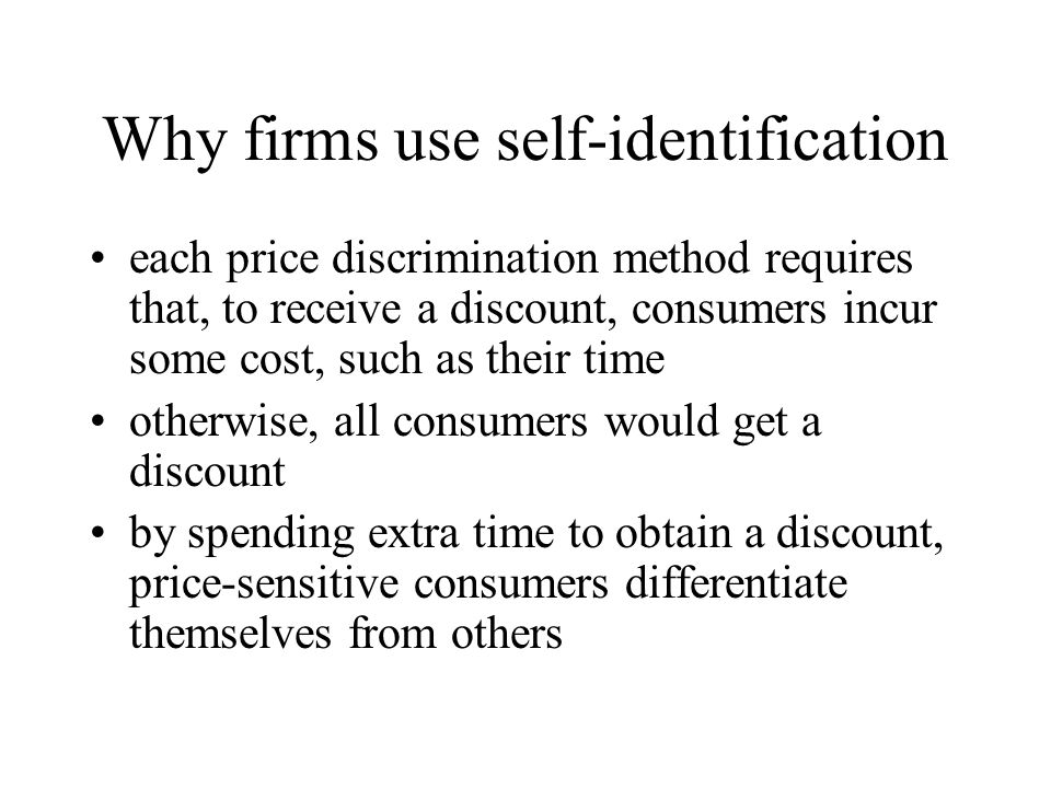 Why firms use self-identification