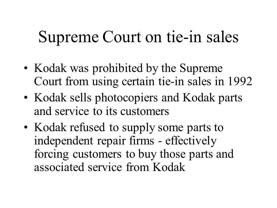 Supreme Court on tie-in sales