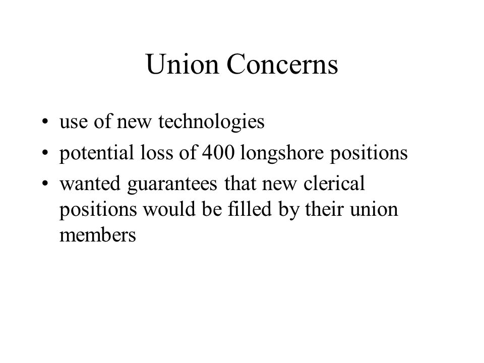 Union Concerns use of new technologies