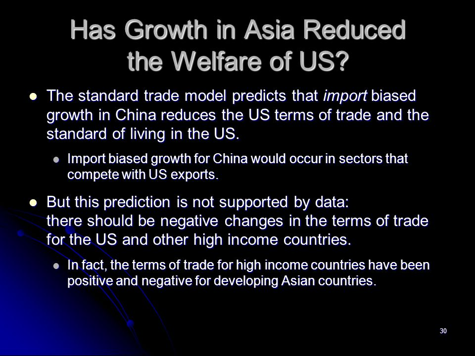 Has Growth in Asia Reduced the Welfare of US
